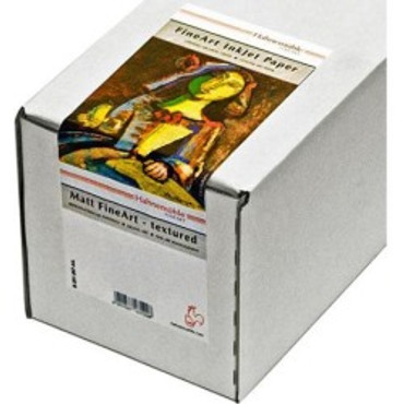 """Hahnemuhle Matte German Etching, 100% TCF Pulp, Natural White Inkjet Paper, 19.6 mil., 310 g/mA, 44""""x39' Roll with 3"""" Core"""