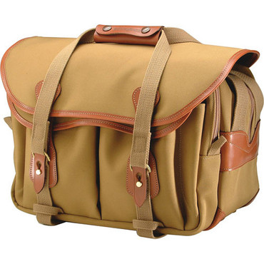 335 Shoulder Bag (Khaki With Tan Leather Trim)