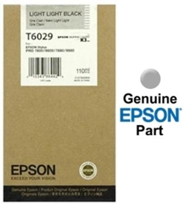 Epson  UltraChrome Light Light Black Ink Cartridge (110ml) For Epson Stylus Pro 7800, 7880, 9800 & 9880 Printers