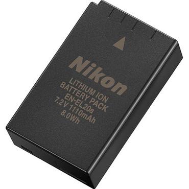 Nikon EN-EL20a Rechargeable Lithium-Ion Battery For Nikon 1 V3 Mirrorless camera (7.2V, 1110mAh)
