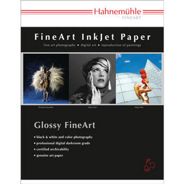 """Hahnemuhle Pearl Photo Rag, 100 % Cotton Rag, Natural White Inkjet Paper, 320 g/mA, 13x19"""", 25 Sheets"""