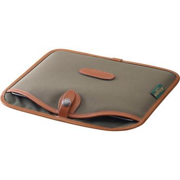 Billingham Tablet Slip Case (Sage FiberNyte/Tan Canvas & Leather Trim)