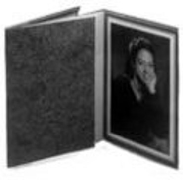 "Dot Line 10""X8"" Gray Photo Folder"
