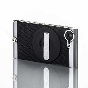 ZTYLUS SMARTPHONE CASE FOR APPLE IPHONE 5/5S (BLACK EDITION) WITH KICKSTAND COMPATIBLE WITH RV-2 4-IN-1 REVOLVER LENS ATTACHMENT