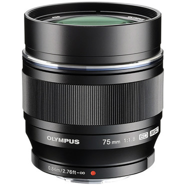 Olympus 75mm f/1.8 M.Zuiko Digital ED Lens (Black)