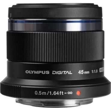 Olympus 45mm f1.8 M.Zuiko ED Lens (Black)