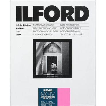 Ilford Multigrade IV RC Deluxe Glossy 8X10,250 sheets - Darkroom paper
