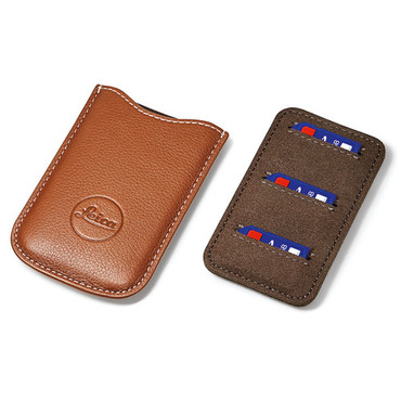 SD Card and Credit Card Holder- Leather Cognac