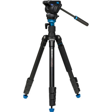 Benro Aero4 Travel Angel Video Tripod Kit - A2883F with Leveling Column and S4 Head