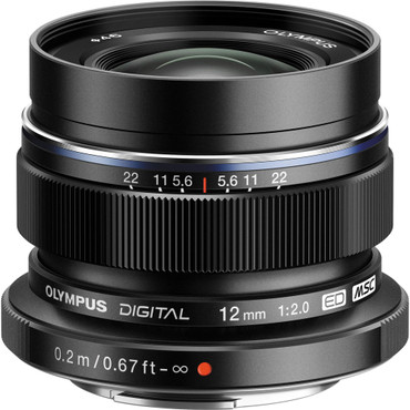 Olympus 12mm f/2.0 Lens M.Zuiko Digital ED Lens (Black)