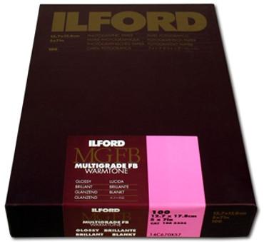 Ilford Multigrade FB Warmtone Fiber Base Paper (8 x 10', 100 Sheets, Semi-Matte)