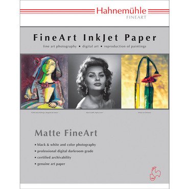 "Hahnemuhle William 310 Turner Deckle Edge Matte FineArt Paper (13 x 19"", 25 Sheets)"