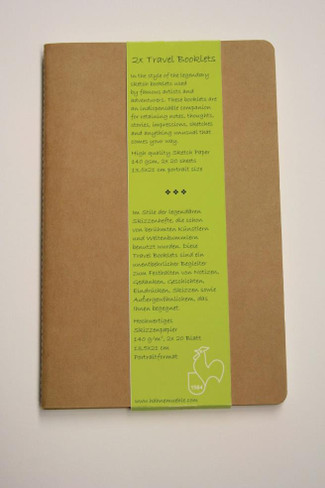 Hahnemuhle Large Travel Booklet 13.5 x 21cm Portrait, Pack of 2