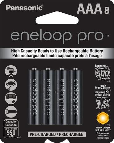 Panasonic Eneloop Pro AAA (4 pack, 950mAh) Rechargeable Ni-MH Batteries
