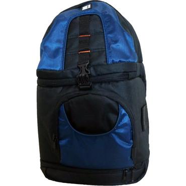 Z-Bag Sling Shoulder Camera & Accessory Backpack w/Adjustable Compartment - Blue