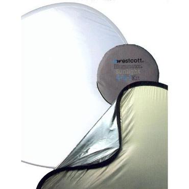 Westcott 1036 52-Inch 4-In-1 Sunlight/Silver Reflector Kit (Black)