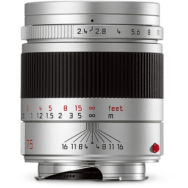 Leica Summarit-M 75mm f/2.4 Lens (Silver)