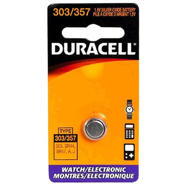 Duracell DL303357BPK, D303/357PK Silver Oxide Button Cell, 1.5V Battery, High-Energy