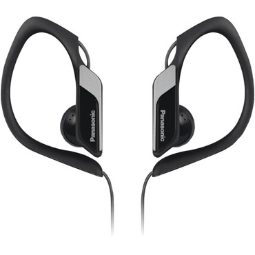 Panasonic HS34 Water- and Sweat-Resistant Sports Earbud Headphones (Black)