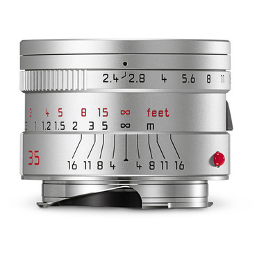 Leica Summarit-M 35mm f/2.4 ASPH. Lens (Silver)