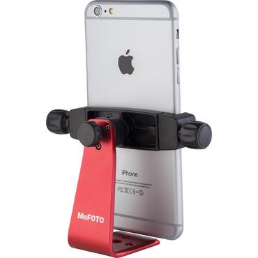 MeFOTO SideKick360 Plus Smartphone Tripod Adapter (Red)
