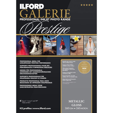 "Ilford GALERIE Prestige Metallic Gloss Paper (8.5 x 11"", 25 Sheets)"