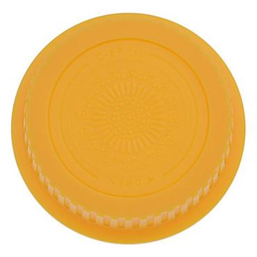Fotodiox Designer Rear Lens Cap for Canon EOS, Yellow