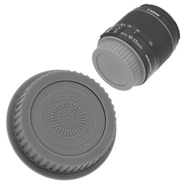 Fotodiox Designer Rear Lens Cap for Canon EOS, Gray