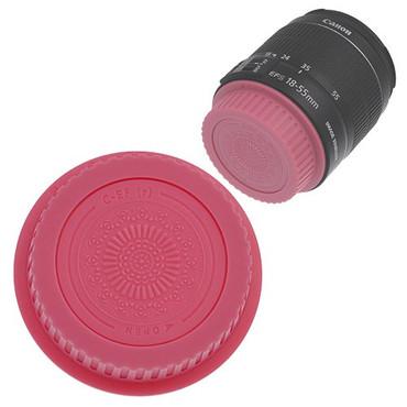 Fotodiox Designer Rear Lens Cap for Canon EOS, Pink