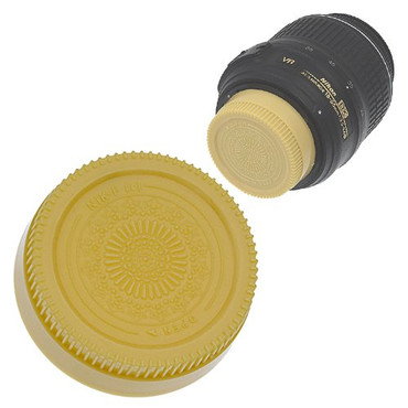 Fotodiox Designer Rear Lens Cap for Nikon F, Gold