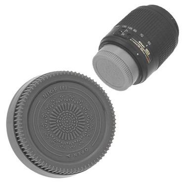 Fotodiox Designer Rear Lens Cap for Nikon F, Gray