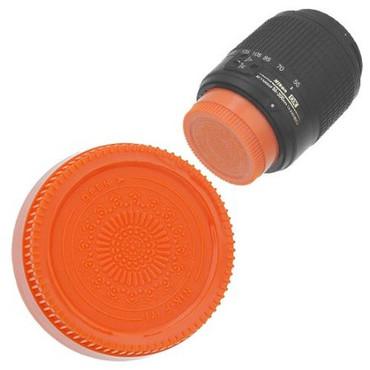 Fotodiox Designer Rear Lens Cap for Nikon F, Orange