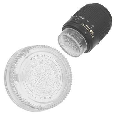 Fotodiox Designer Rear Lens Cap for Nikon F, Clear