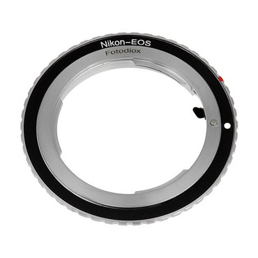 Fotodiox Lens Mount Adapter, Nikon Lens to Canon EOS Camera Body