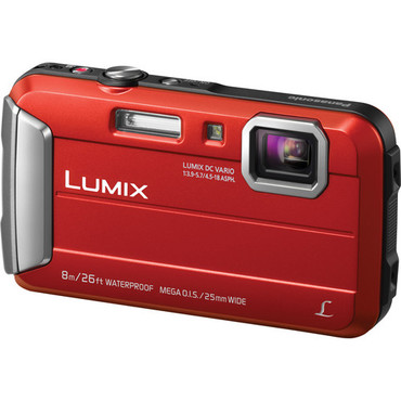 Lumix DMC-TS30 Digital Camera (Red)