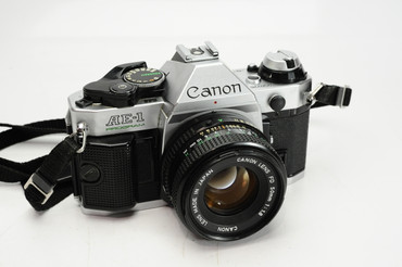 Pre-Owned - Canon AE-1 Program Silver w/ 50mm 1.8 FD Lens