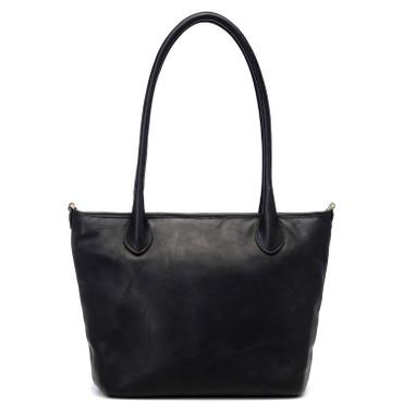 ONA Leather Capri Tote (Brentwood Black Leather)
