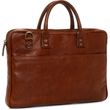 "ONA The Leather Kingston 15"" Laptop Briefcase (Walnut)"