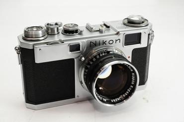 Pre-Owned Nikon S2 BLACK DIAL  Rangefinder Film Camera w/50mm 1.4 Black Dial