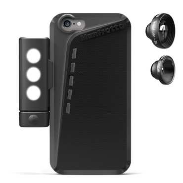 Manfrotto KLYP+ iPhone 6 Plus Photographic Case with Deluxe Photo Kit - 2 Lenses + LED Light + Tripod Mount