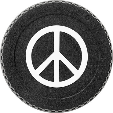 BlackRapid LensBling Peace Sign Front Body Cap for Nikon Cameras
