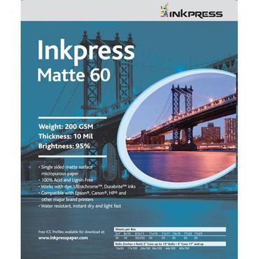 """Inkpress Media Matte 60 Paper for Inkjet - 8.5x11"""" (Letter) - 50 Sheets"""