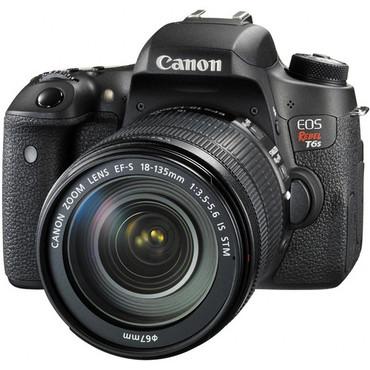 Canon EOS T6s DSLR Camera w/ 18-135mm Lens