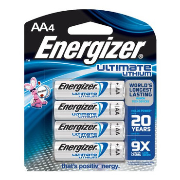 Energizer Ultimate Lithium AA Batteries (4 Pack)