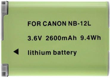 Xit XTNB12L Replacement Battery F/CANON NB-12L~2600mAh