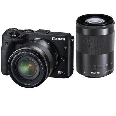 Canon EOS M3 Kit EF-M 18-55 IS STM & EF-M 55-200 IS STM