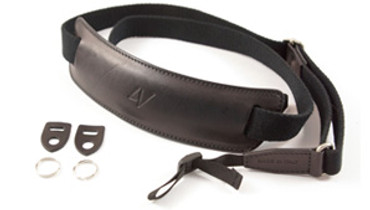 4V Design Large Neck Strap Kit Lusso Tuscany Leather Black/Black