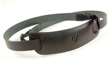4V Design Large Neck Strap Kit Classico Tuscany Leather Black/Cyan