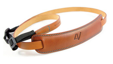 4V Design Medium Neck Strap Kit Classico Tuscany Leather Brown/Cyan