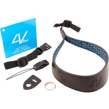 4V Design Large Wrist Strap Kit Ergo Tuscany Leather Black/Black